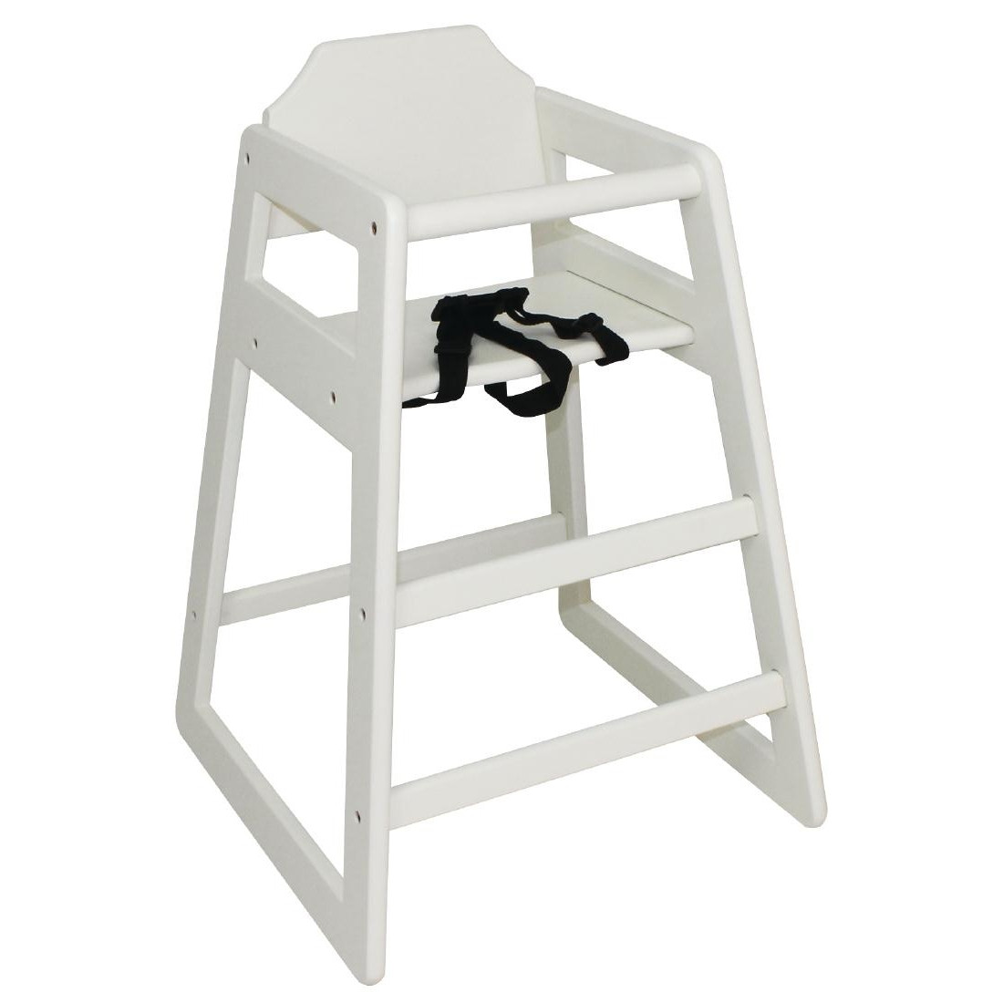 Bolero Wooden High Chair Antique White