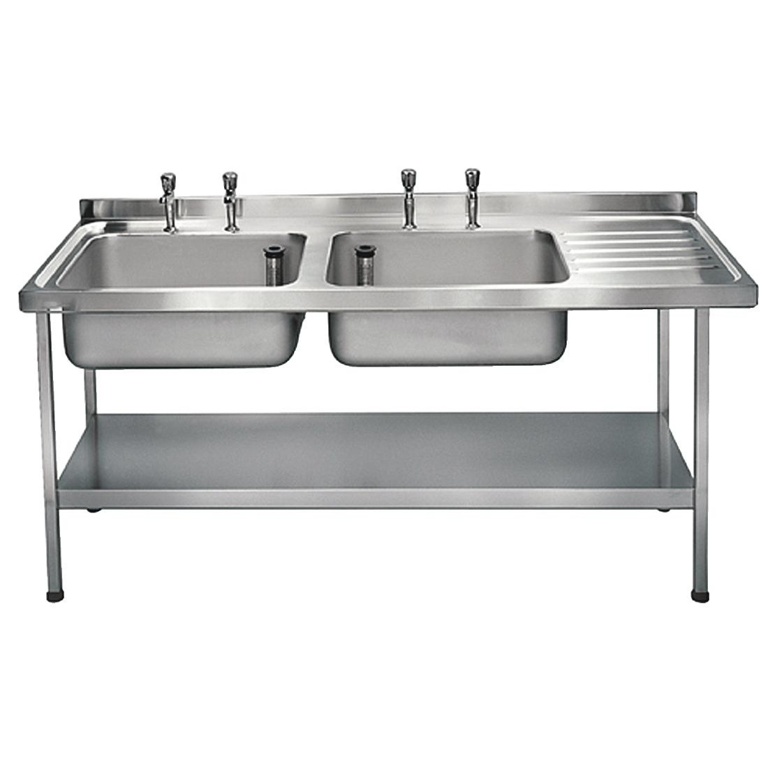 9fd290d1b1 Franke Sissons Stainless Steel Sink Double Left Hand Bowl 1800x650mm. Zoom
