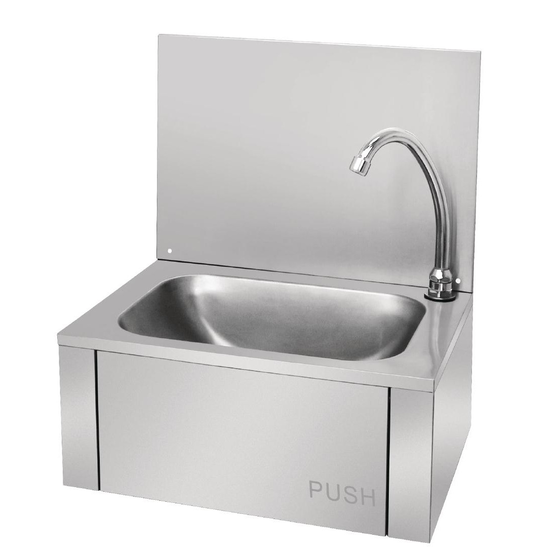 Vogue Stainless Steel Knee Operated Sink Hand Wash