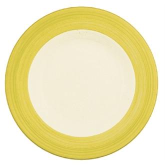 Steelite Rio Yellow Slimline Plates 255mm