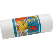 Swing Bin Liner, Capacity: 50 litre. Roll of 30.