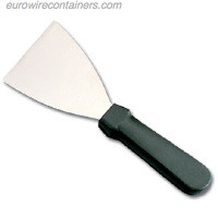 "Griddle Scraper, Plastic handle with 5"" rigid stainless steel blade."