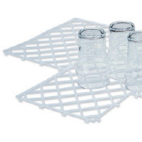 Glass Mats, Clear stacking mats. Box quantity 10