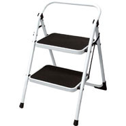 Folding Step Stool, 2 tread.
