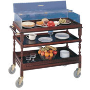 Multi-Purpose Trolley, Sturdy castors with wipe clean laminate tops.