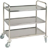 Clearing Trolley, 3 tier. Size: 710 x 405 x 810mm.