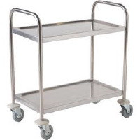Clearing Trolley, 2 tier. Size: 710 x 405 x 810mm.