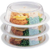 """Polycarbonate Plate Cover, 8.5"""" diameter. (Supplied singly. Plate ring supplied separately)"""