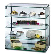 Lincat Seal Ambient Glass Cabinet, 4 shelves. Sliding rear doors. Model: GC46D.