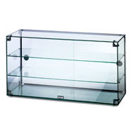 Lincat Seal Ambient Glass Cabinet, 3 shelves. Sliding rear doors. Model: GC39D.