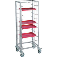 Self Clearing Trolley - Double, 20 tray capacity (trays not included).