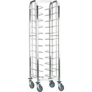 Bourgeat Self Clearing Trolley - Single, 12 tray capacity (trays not supplied).