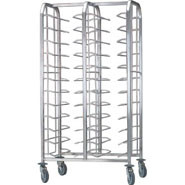 Bourgeat Self Clearing Trolley - Double, 24 tray capacity (trays not supplied).