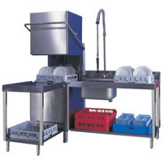 Dexion Pass-Through Dishwasher, Model: LP100 (with pumps). 24 plate capacity. 1, 2 and 3 minute