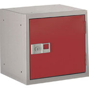 Cube Locker, Maroon door. 305 x 305 x 305mm.