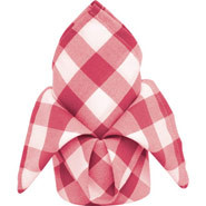 "Gingham Polyester - Red & White Check, Napkin. 406 x 406mm (16 x 16""). Box Qty 10"