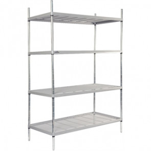 4 Tier Nylon Coated Wire Shelving 1700x 1175x 391mm