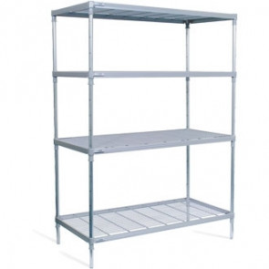 4 Tier Nylon Coated Wire Shelving 1700x 1475x 491mm