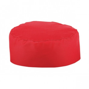 Whites Chefs Skull Cap Red