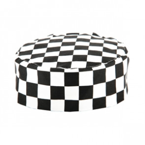 Whites Chefs Skull Cap Big Black and White Check