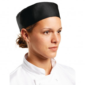 Whites Chefs Skull Cap Black 21in