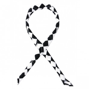 Neckerchief Big Black and White Check