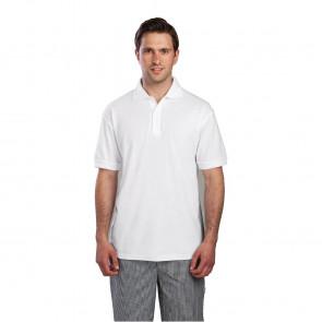 Unisex Polo Shirt White L