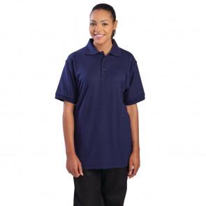 Unisex Polo Shirt Navy Blue M
