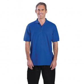 Unisex Polo Shirt Royal Blue L