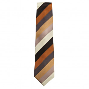 Uniform Works Tie Chocolate Chunky Stripe