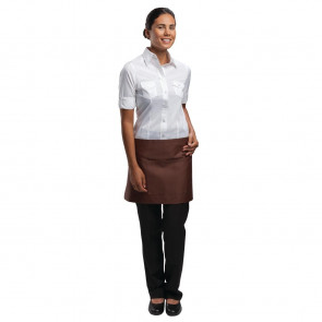 Uniform Works Short Bistro Apron Chocolate