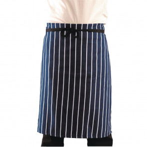Whites Butchers Waist Apron Navy Stripe XL