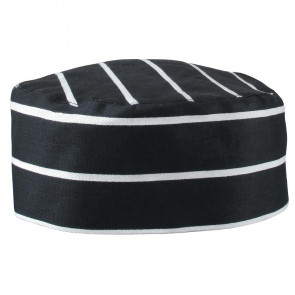 Whites Skull Cap Black Butchers Stripe