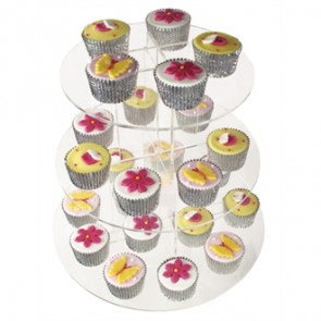 Acrylic 3 Tier Cupcake Stand
