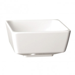 APS Float White Square Bowl 2""