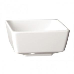 "APS Float White Square Bowl 4"""