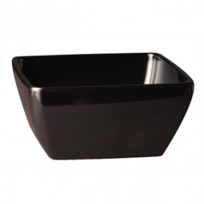 APS Pure Melamine Black Square Bowl