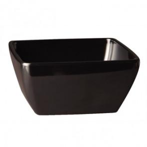 APS Pure Melamine Black Square Bowl