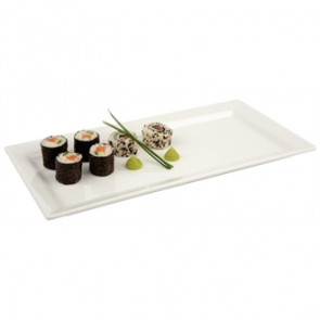 APS Pure Melamine Rectangular Tray 14""
