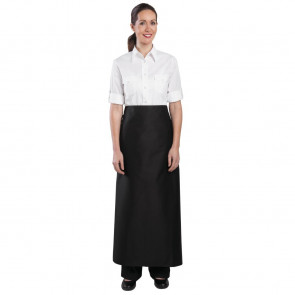 Whites Long Bistro Apron Black