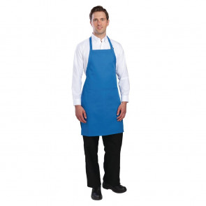 Colour by Chef Works Bib Apron Blue