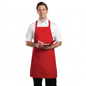 Colour by Chef Works Bib Apron Red