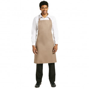 Whites Polycotton Bib Apron Tan