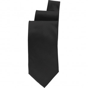 Uniform Works Black Satin Finish Tie