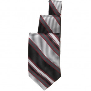 Uniform Works Black and Red Striped Tie