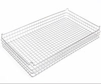 30x18x4  (25x25) 304 Stainless Steel Stacking Wire Tray