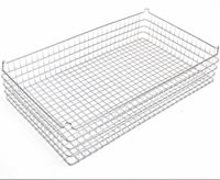 30x18x6 (25x25) 304 Stainless Steel Stacking Wire Tray