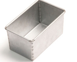 800g Bread Tin Single - Aluminium