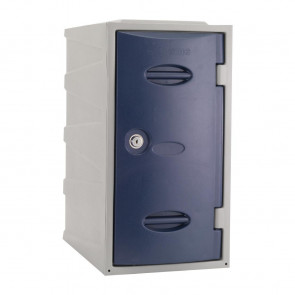 Extreme Plastic Single Door Locker Camlock Blue 600mm