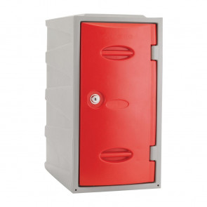 Extreme Plastic Single Door Locker Camlock Red 600mm